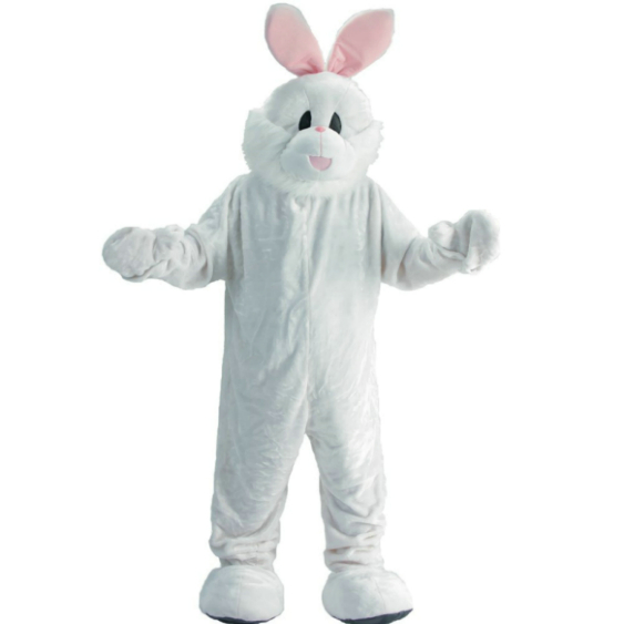 Easter Bunny Economy Mascot Adult Costume