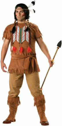 Indian Brave Plus Adult Costume