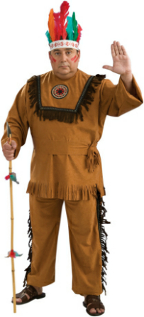 Native American Warrior Plus Adult Costume