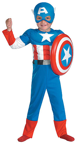 Toddler Muscle Chest Captain America Costume