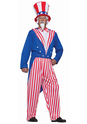 Plus Size Uncle Sam Costume