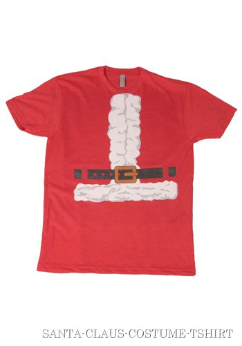 Mens Santa Claus Costume T-Shirt