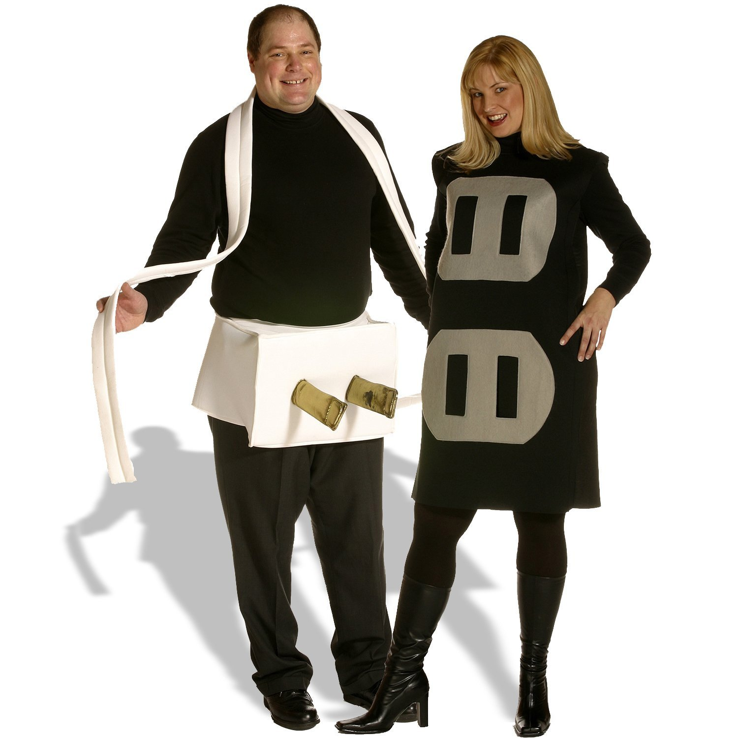 Plug & Socket Couples Set Adult Plus Costume
