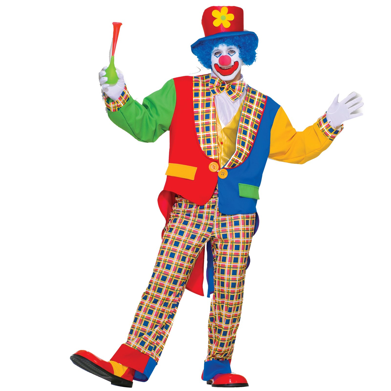 Clown on The Town Adult Circus Costume