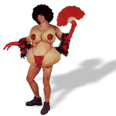 Tassle Twirling Tessie Adult Costume