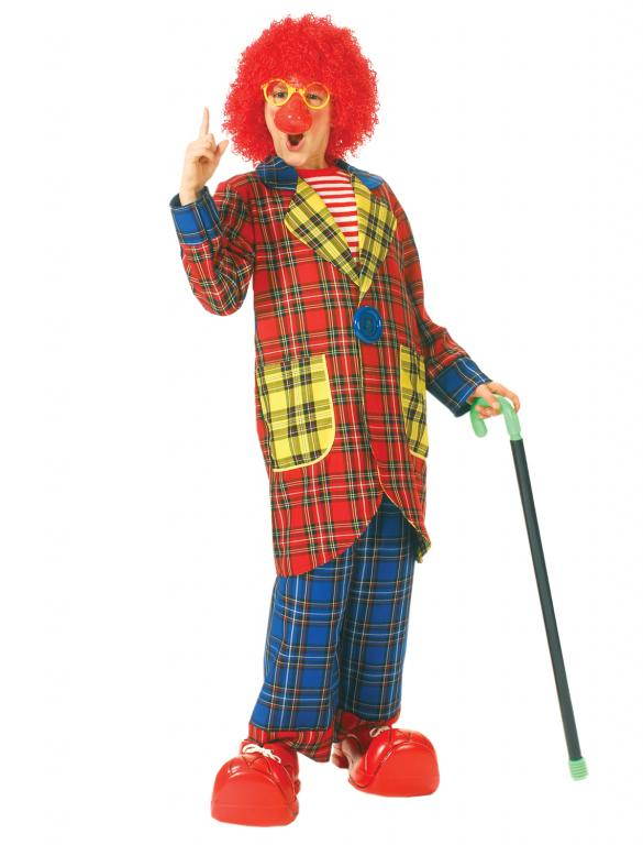 Plaid Pickles Clown Child Costume