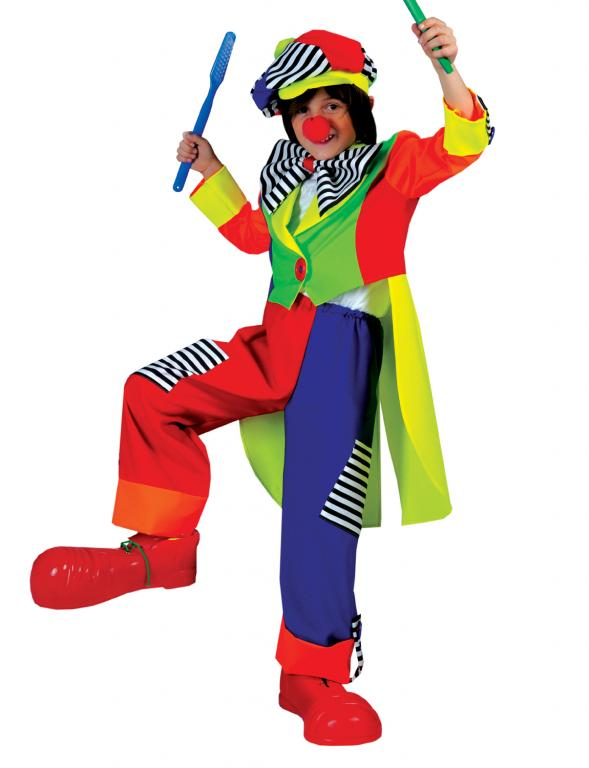 Spanky Stripes Clown Child Costume