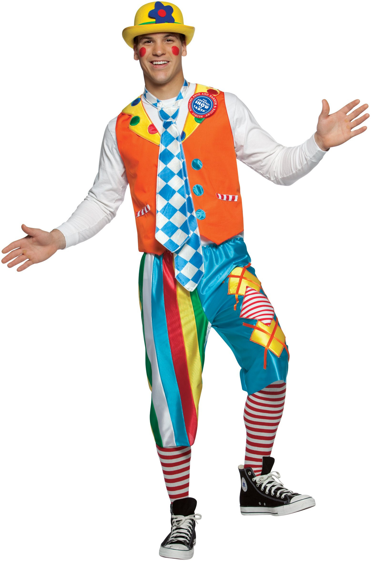Ringling Bros. Argey Short Pant Clown Adult Costume