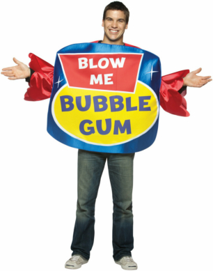 Blow Me Bubble Gum Adult Costume