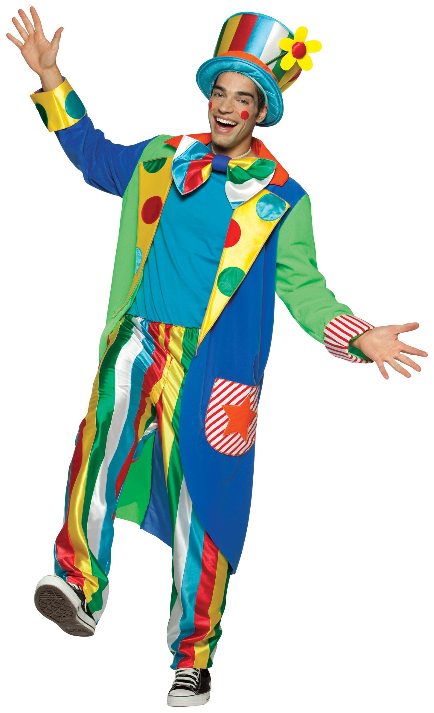 Long Coat Louie Clown Adult Circus Costume