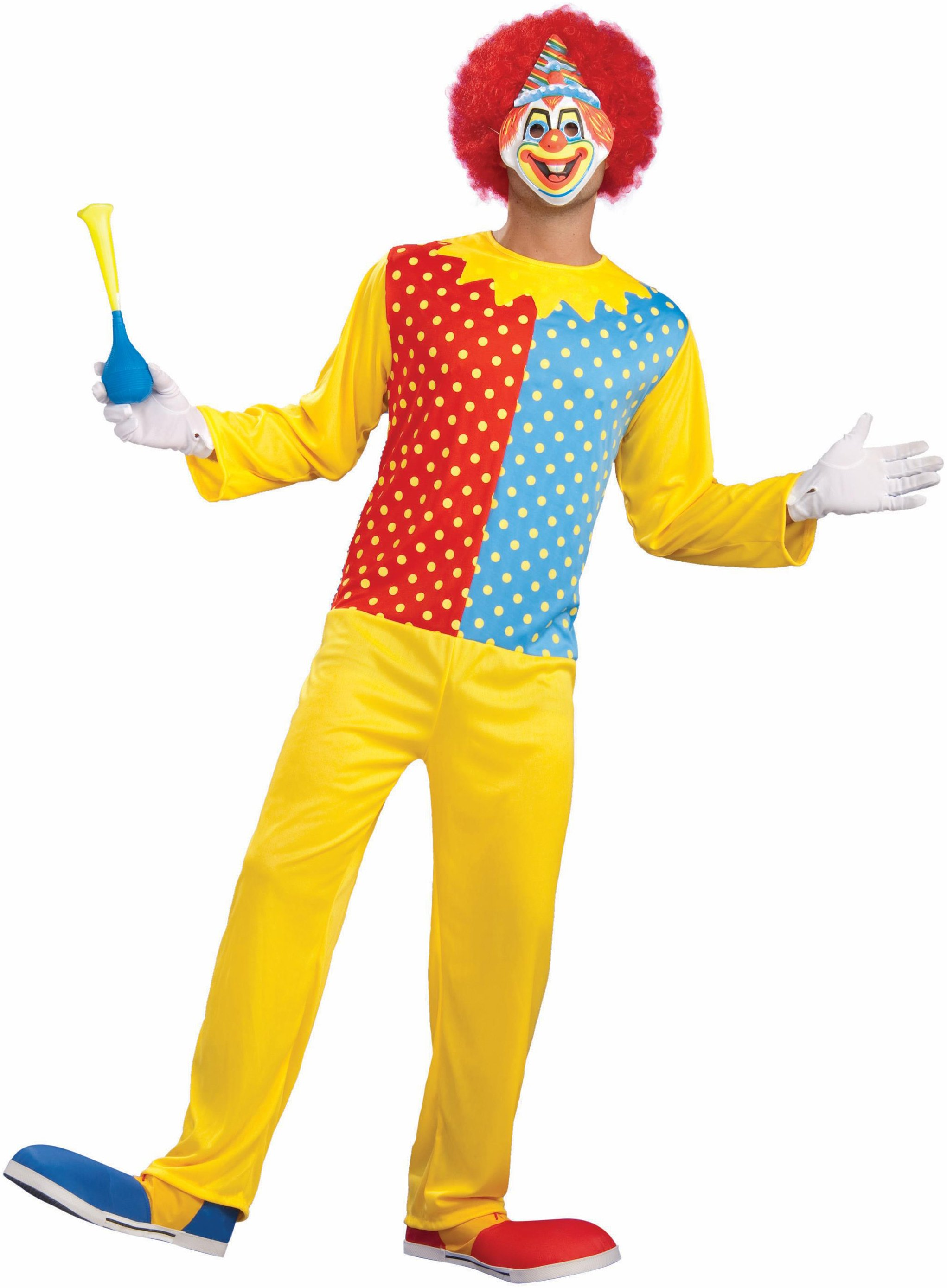 Retro Clown Adult Circus Costume