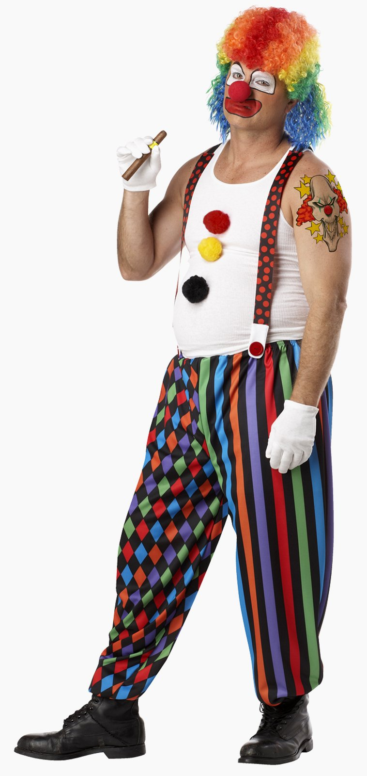 Cranky the Clown Adult Plus Costume