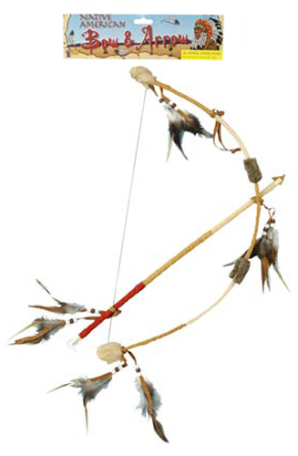 Feathered Indian Bow and Arrow Set