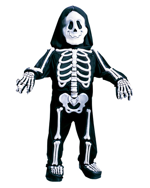 Toddlers Totally White Skelebones Costume