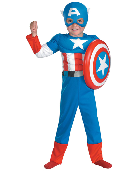 Toddler Captain America Muscle Costume
