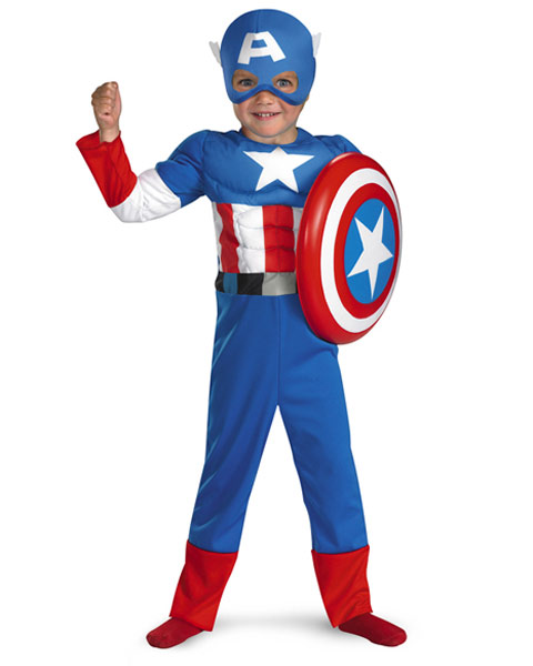Muscle Captain America Toddler Costume