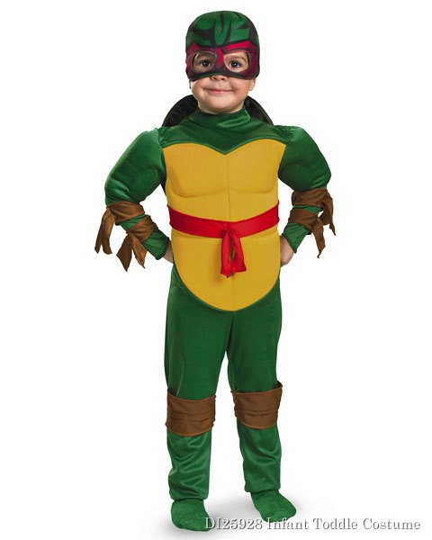 Muscle Teenage Mutant Ninja Turtles Raphael Costume for Toddlers
