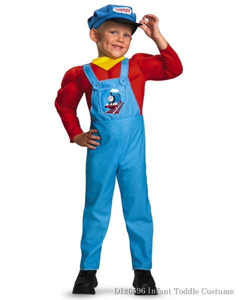 Toddler Classic Muscle Thomas The Tank Engine Costume