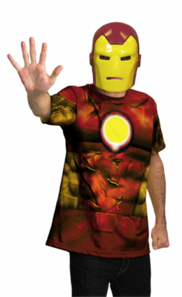 Iron Man Mask and T-Shirt Costume Set - Tween