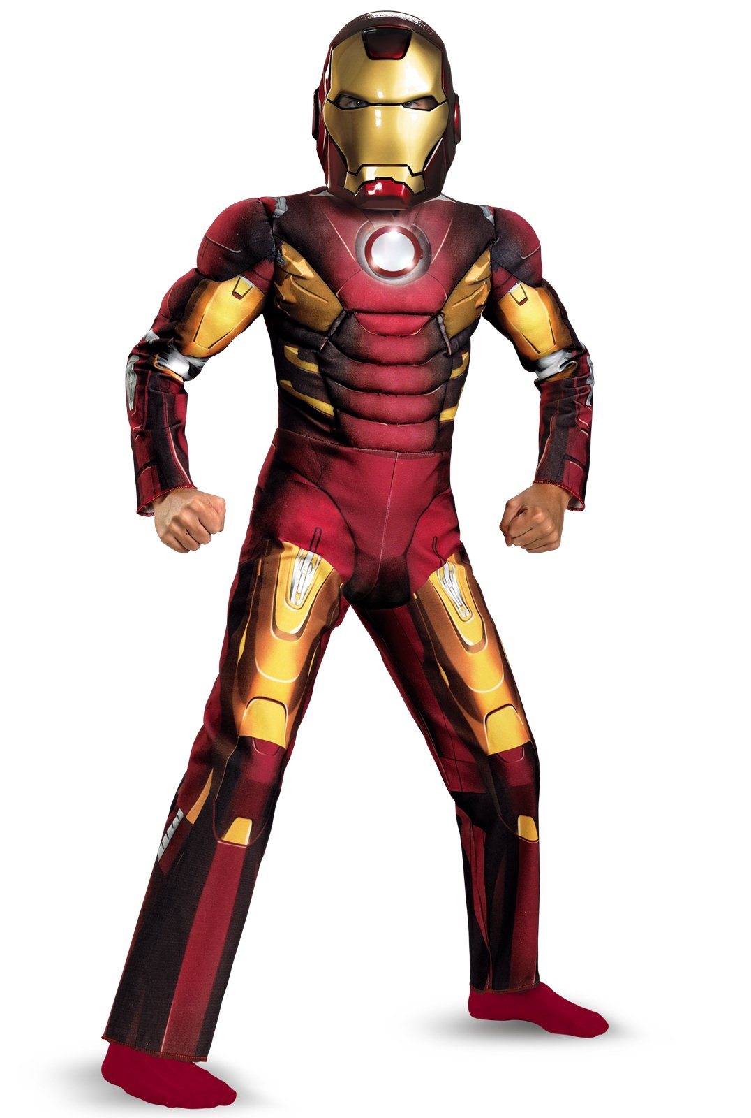 The Avengers Iron Man Mark VII Light Up Muscle Chest Child Costu
