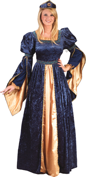 Blue Maiden Princess Adult Costume
