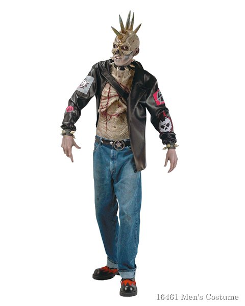 Adult Punk Zombie Costume For Adult
