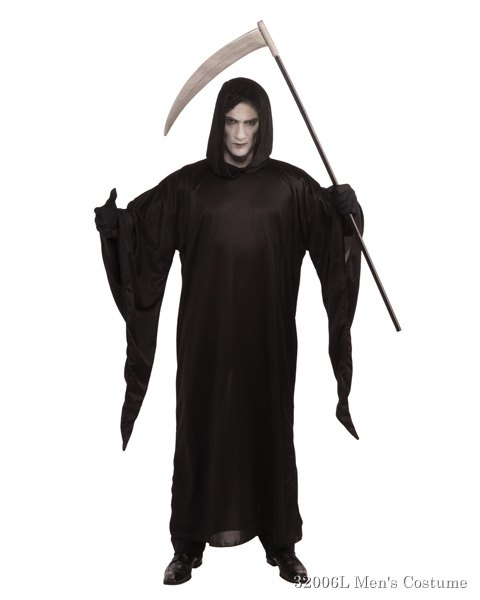 Deluxe Grim Reaper Robe Costume For Adult