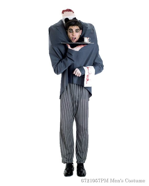 Mens Headless Butler Costume