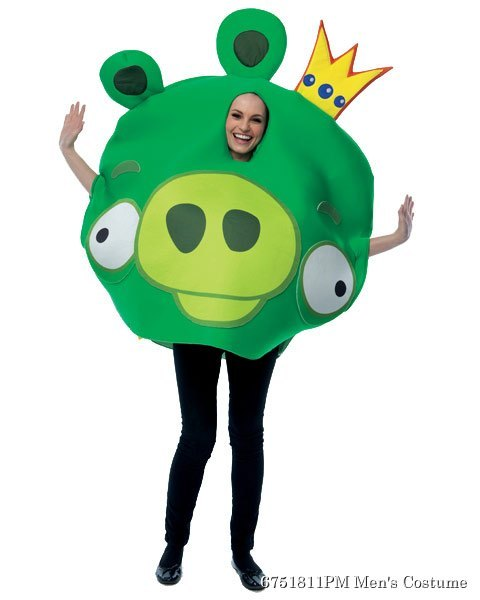 Unisex Adult Angry Birds King Pig Costume