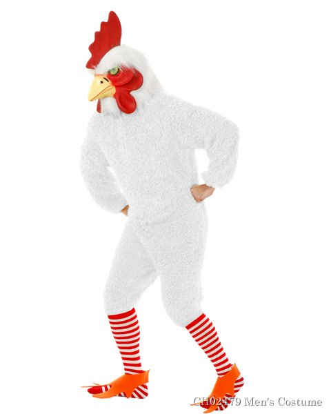 White Rockin Rooster Mens Costume