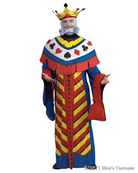 Deluxe Playing Card King Mens Costume