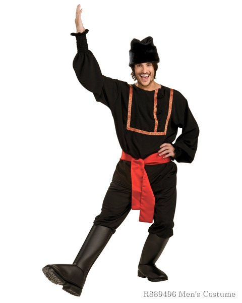 Black Russian Mens Costume - Click Image to Close