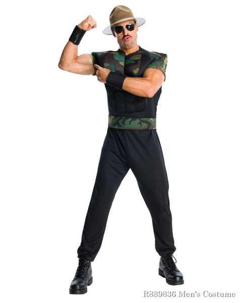 WWE Deluxe Sgt Slaughter Mens Costume - Click Image to Close