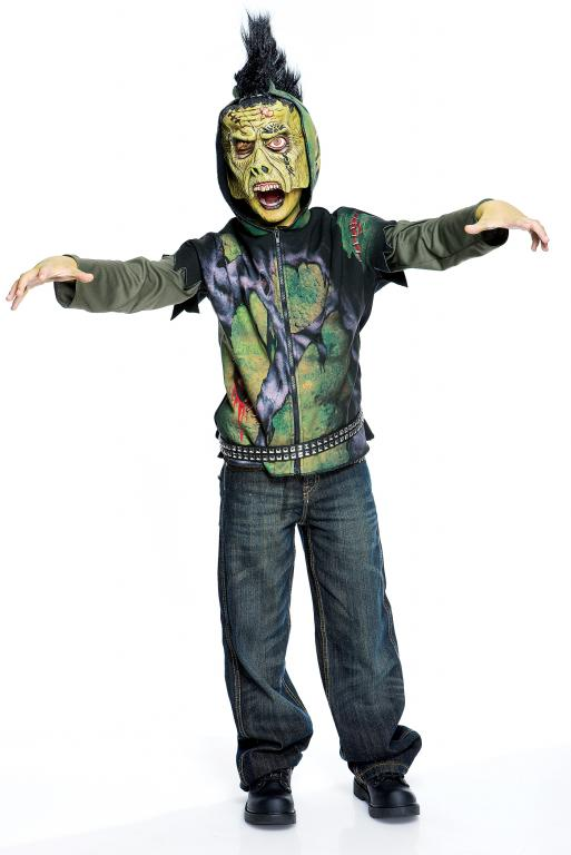 Creature Short Sleeve Hoodie Child Costume Medium
