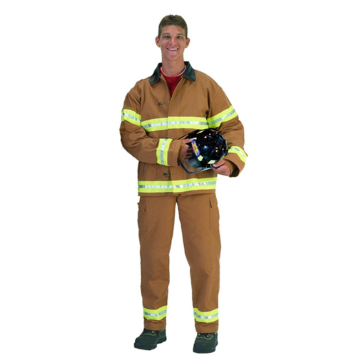 Fire Fighter Suit Tan Adult Costume