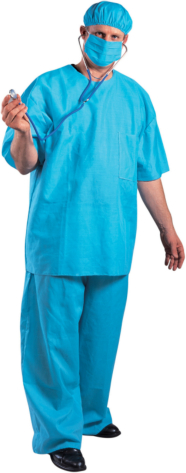 Doctor Dan Adult Plus Costume