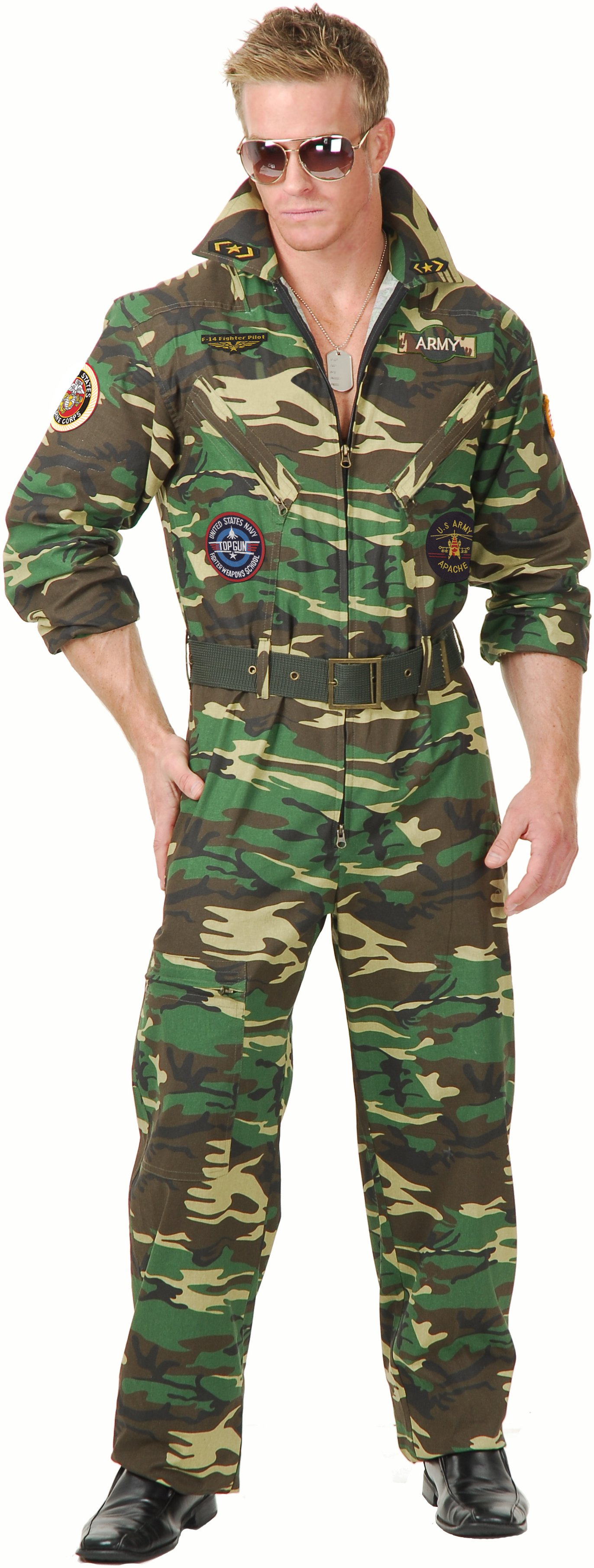 Camouflage Jumpsuit Adult Costume
