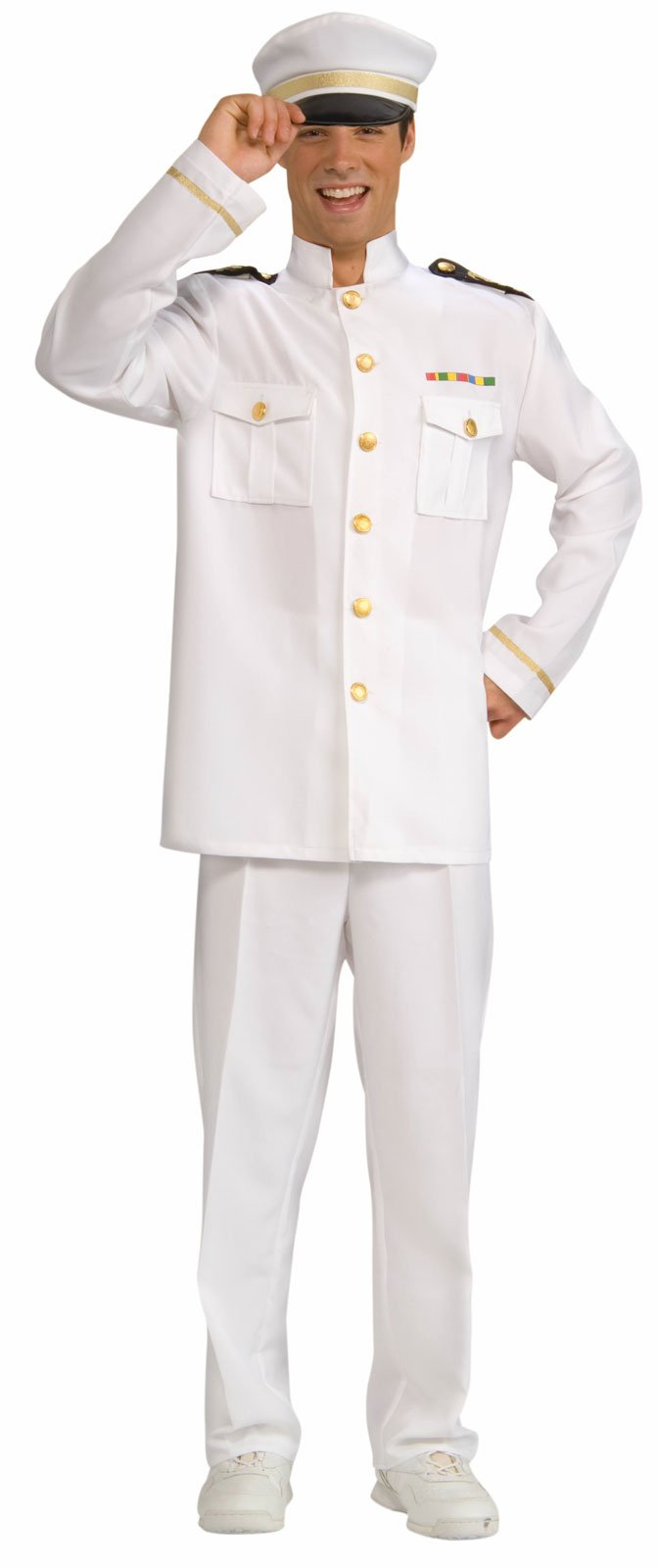 Navy Officer White Adult Jacket