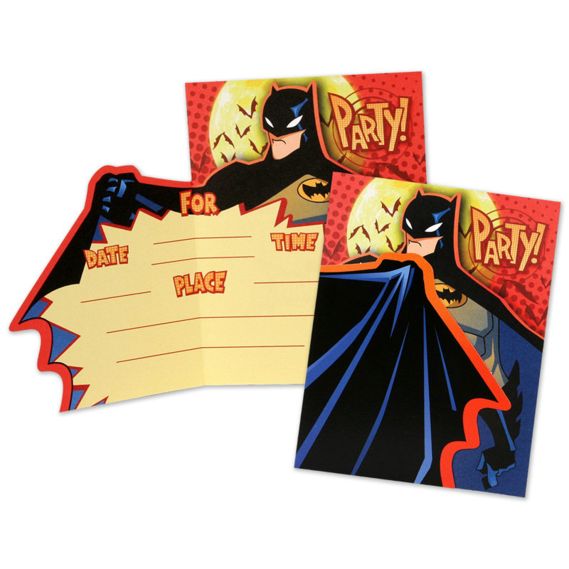 Batman Invitations (8 count)