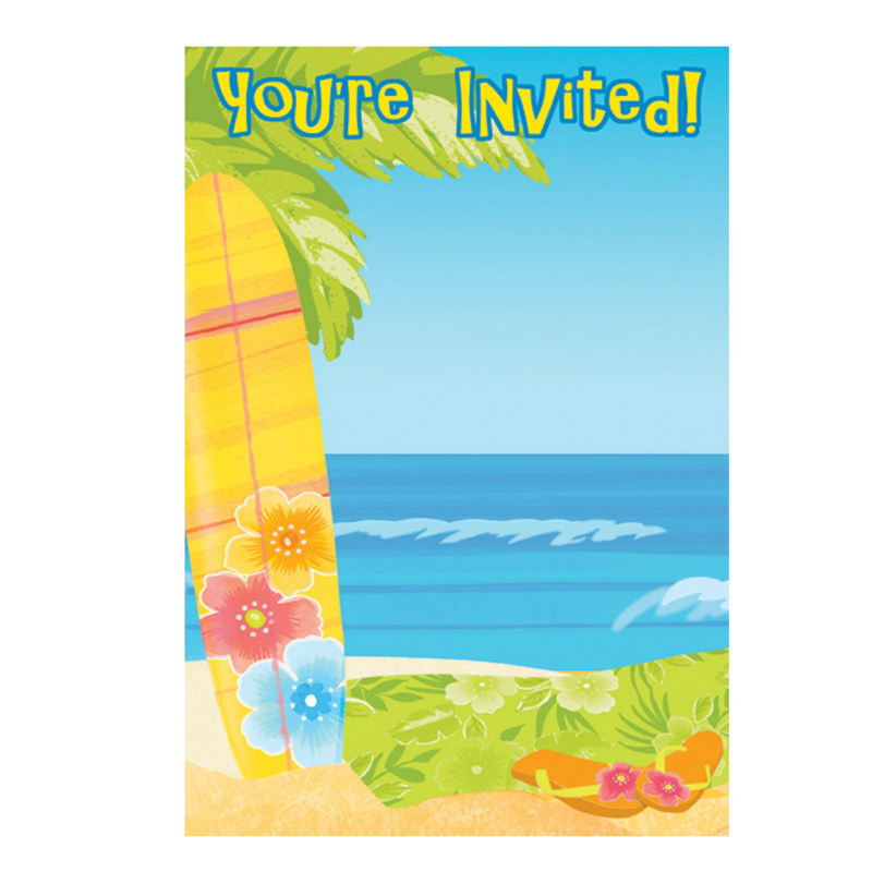 Surf's Up Imprintable Postcard Invitations (8 count)