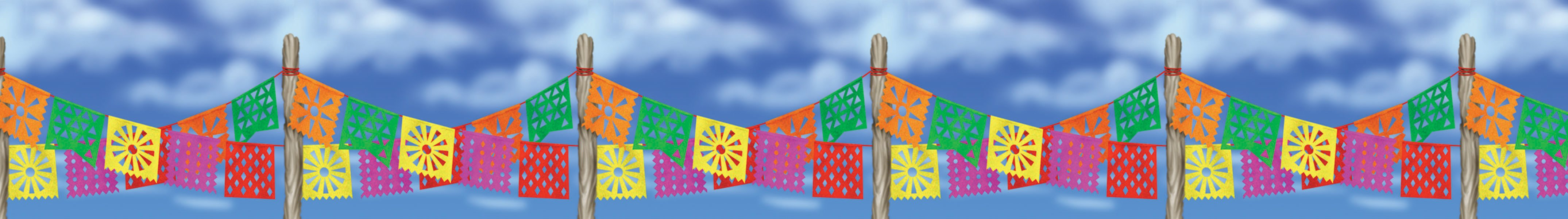 50' Fiesta Pennant Garland Border Roll