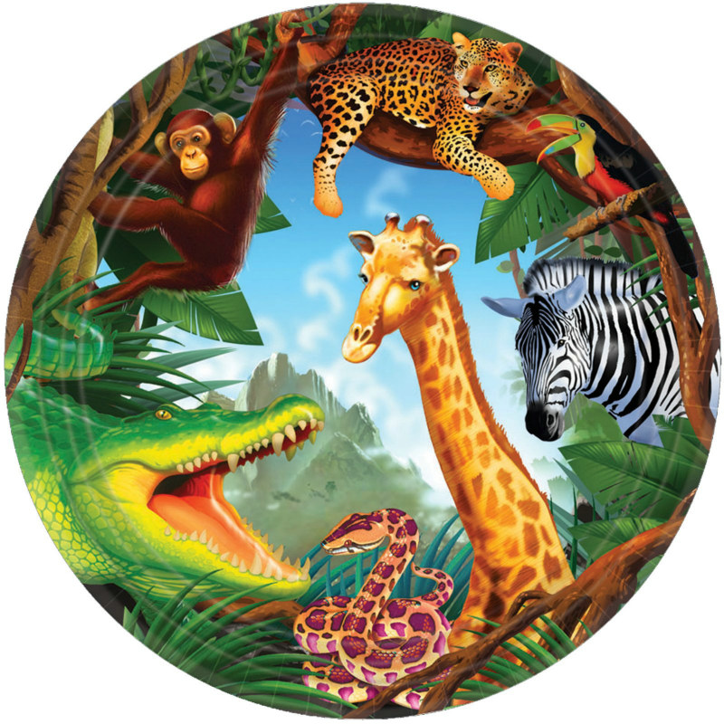Safari Dessert Plates (8 count)