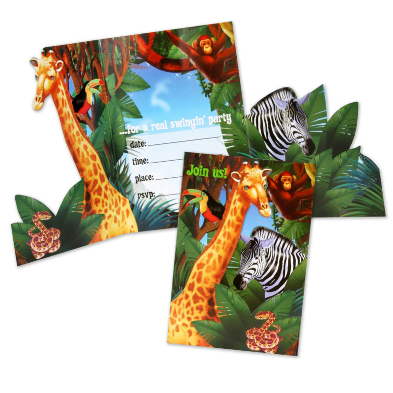 Safari Invitations (8 count)