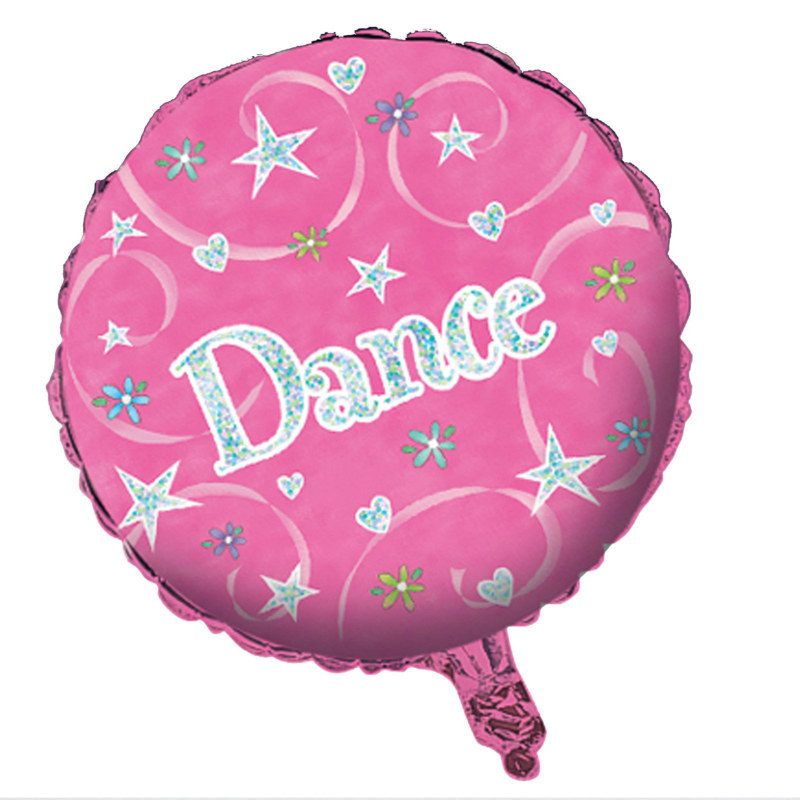 "Girl Time Dance 18"" Prismatic Foil Balloon"