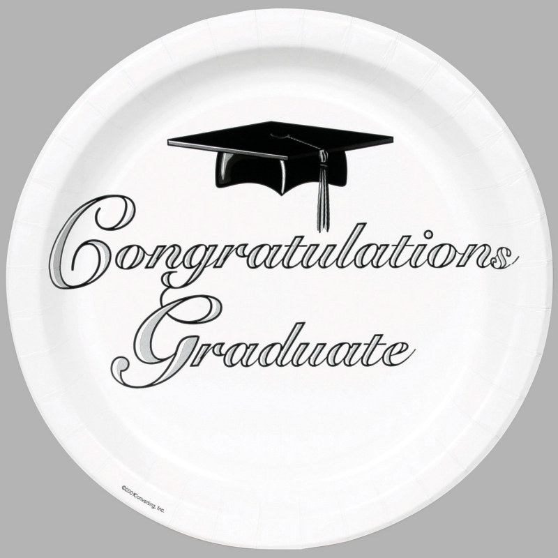 Congratulations Graduate White Dinner Plates (25 count)