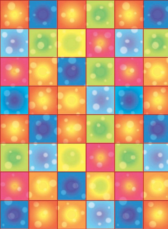 40' Disco Boogie Squares Room Roll