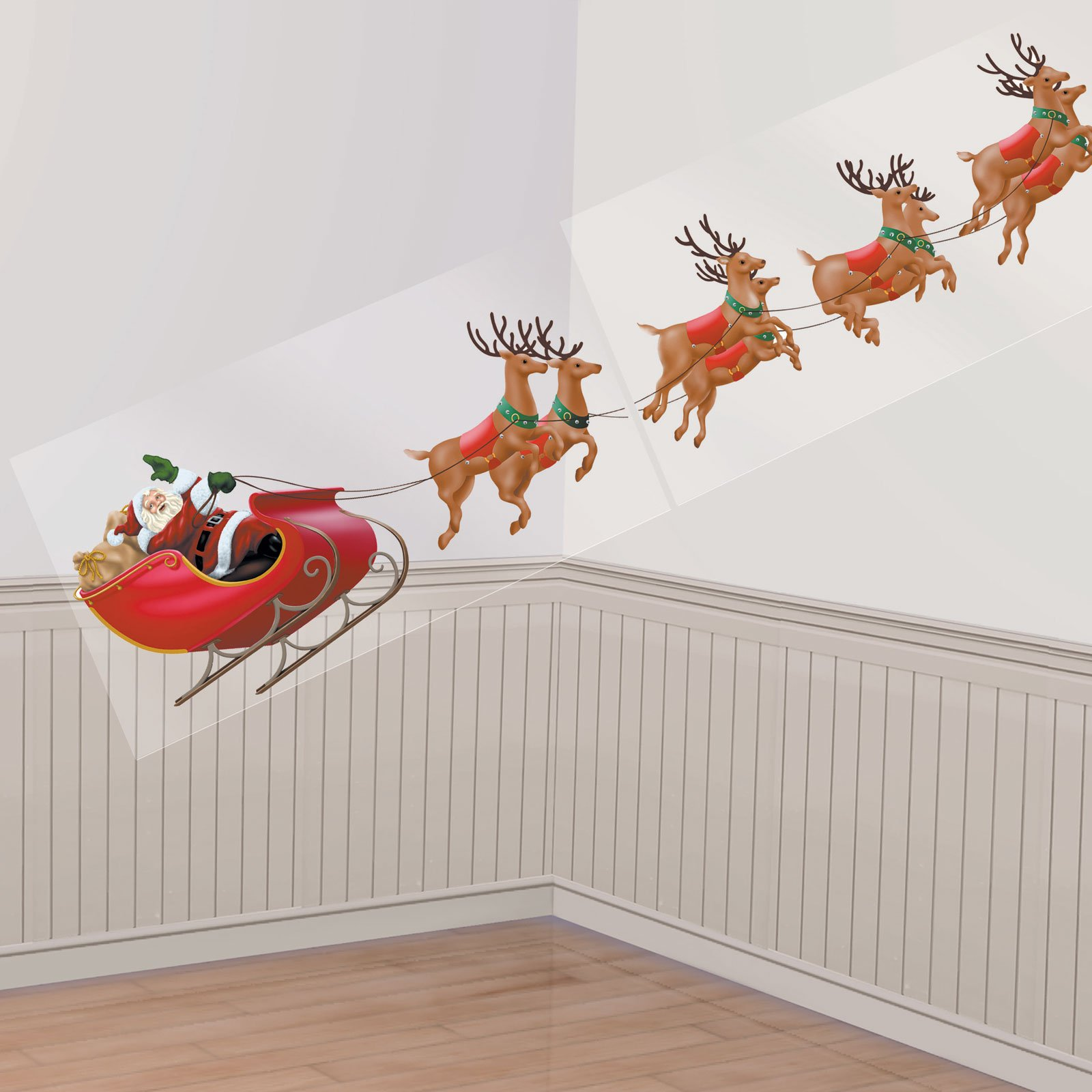 10' Santa and His Reindeer Add-On
