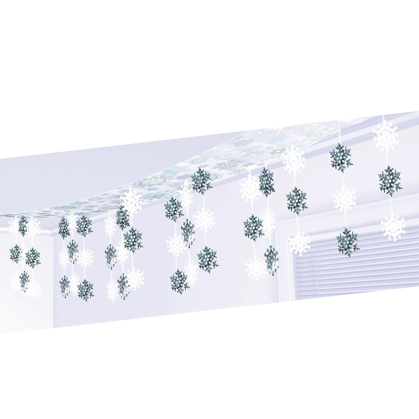 12' Let It Snow Foil Ceiling Decoration