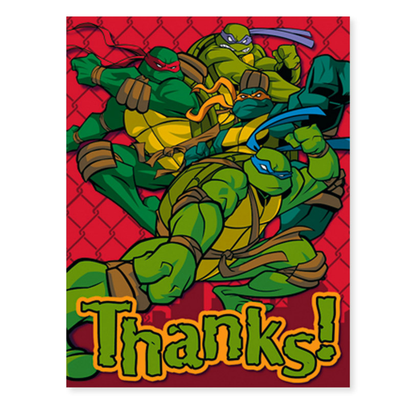 Teenage Mutant Ninja Turtles Thank You Cards (8 count)