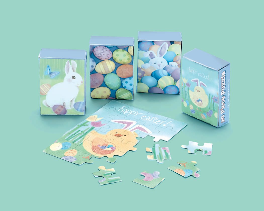 24 pc. Boxed Easter Puzzle Asst.